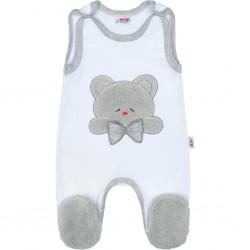 Luxusní kojenecké dupačky New Baby Honey Bear s 3D aplikací, Bílá, 56 (0-3m)