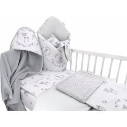 Baby Nellys 6-ti dílná výhod. sada s dárkem pro miminko, 120 x 90 - Koloušek, růžová/šedá
