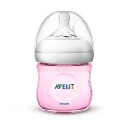 Kojenecká láhev Avent Natural 125 ml růžová, Růžová