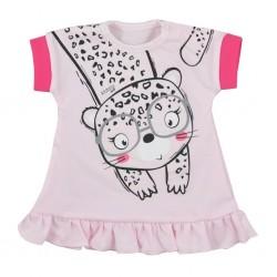 Kojenecké letní šaty Koala Sara růžové, Růžová, 62 (3-6m)