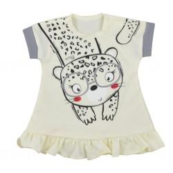 Kojenecké letní šaty Koala Sara béžové, Béžová, 74 (6-9m)