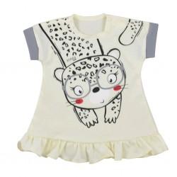 Kojenecké letní šaty Koala Sara béžové, Béžová, 80 (9-12m)