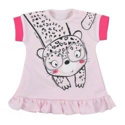 Kojenecké letní šaty Koala Sara růžové, Růžová, 80 (9-12m)