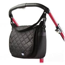 Prošívaná taška na kočárek CARETERO black, Černá