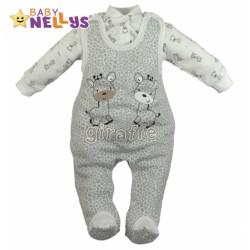Dupačky a košilka Baby Nellys ® Giraffe - šedá