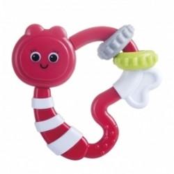 Chrastítko, kousátko Canpol Babies Žížalka - červená