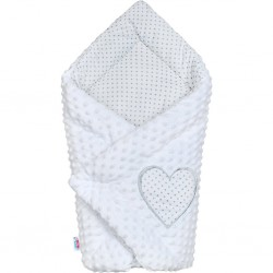 Luxusní Zavinovačka z Minky New Baby bílá 73x73 cm, Bílá