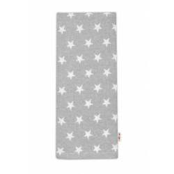 Flanelová plenka - Hvězdičky bílé v šedé
