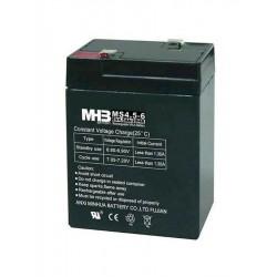 Pb akumulátor MHB VRLA AGM 6V/4,5Ah, Černá