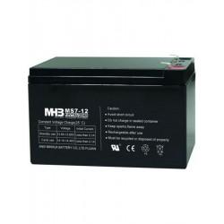 Pb akumulátor MHB VRLA AGM 12V/7Ah (MS7-12)-faston 6,3 mm, Černá