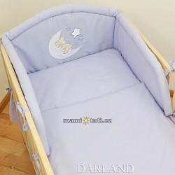 Mantinel s povlečením lux Darland - Medvídek na měsíčku 120 x 90 - lila