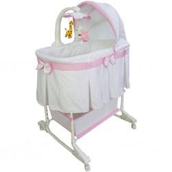 Multifunkční kolébka Milly Mally Sweet Melody simple pink, Růžová