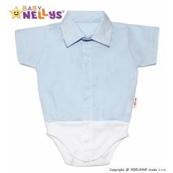 Košilkové body krátký rukáv - modré