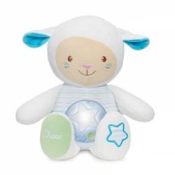 Ovečka s noční lampičkou Chicco - modrá