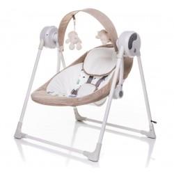4 BABY Lehátko/houpačka pro kojence Swing - béžové