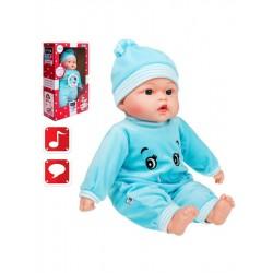 Polsky mluvící a zpívající dětská panenka PlayTo Beatka 46 cm, Modrá
