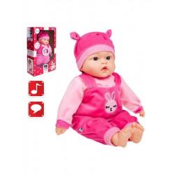 Polsky mluvící a zpívající dětská panenka PlayTo Zosia 46 cm, Růžová