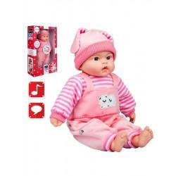 Polsky mluvící a zpívající dětská panenka PlayTo Agatka 46 cm, Růžová