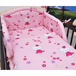Bavlněné povlečení Darland, kočičky v růžové