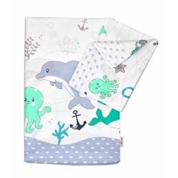 Bavlněné povlečení OCEÁN Baby Nellys - zelený