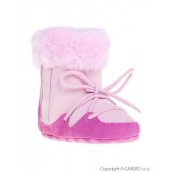 Dětské zimní capáčky Bobo Baby 6-12m růžové, Růžová, 74 (6-9m)
