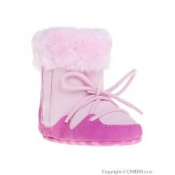 Dětské zimní capáčky Bobo Baby 12-18m růžové, Růžová, 86 (12-18m)