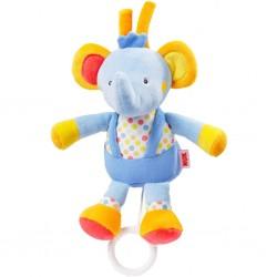 Dětská plyšová hrající hračka Nuk sloník, Modrá