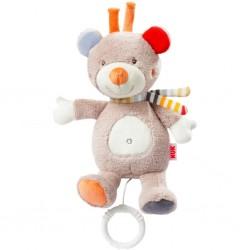 Dětská plyšová hrající hračka Nuk méďa, Béžová