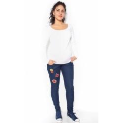 Těhotenské kalhoty/jeans s nášivkami  TOP