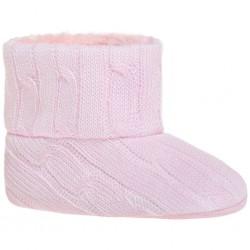 Dětské zimní capáčky Bobo Baby 12-18m růžový úplet, Růžová, 86 (12-18m)