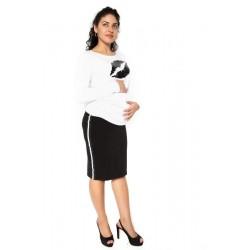 Těhotenská sukně ELLY - sportovní - černá
