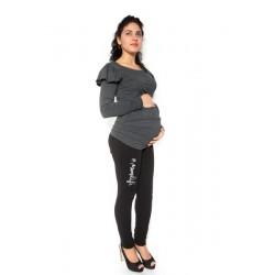 Těhotenské tepláky,kalhoty MOM life - černé
