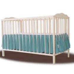 Baby Nellys Bavlněný volánek pod matraci - tmavě zelená