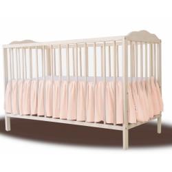 Baby Nellys Bavlněný volánek pod matraci - meruňková