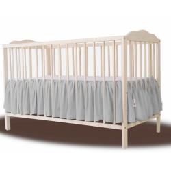 Baby Nellys Bavlněný volánek pod matraci - šedá
