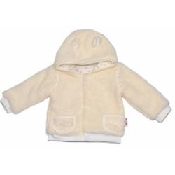 Chlupáčkový kabátek, mikinka  Baby Nellys ® - smetanový