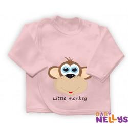 Košilka se zap. na boku Little Monkey, růžová