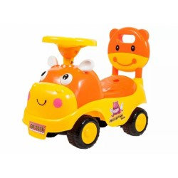 Tulimi Dětské odstrkovadlo, odrážedlo, jezdítko Kravička - oranžové