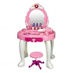 Dětský kosmetický stolek Bayo + příslušenství, Růžová