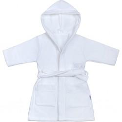 Dětský župan New Baby Sovičky bílý, Bílá, 86 (12-18m)