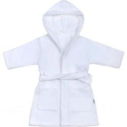 Dětský župan New Baby Sovičky bílý, Bílá, 98 (2-3r)