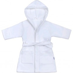 Dětský župan New Baby Sovičky bílý, Bílá, 110 (4-5r)