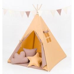 Stan pro děti teepee, týpí bez výbavy - medový / hnědý