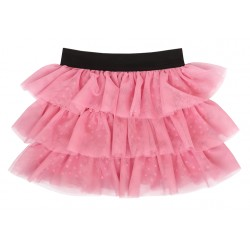 Mamatti Kojenecká tylová sukně, Princezna Puntík - růžová s černým pasem