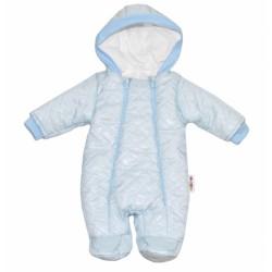 Kombinézka s kapuci LUX Baby Nellys ®prošívaná - sv. modrá
