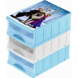 Boxy na hračky - sada 3 šuplíků FROZEN