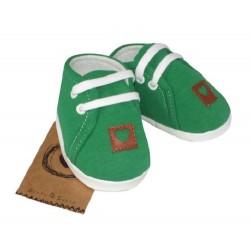 Z&amp,Z Jarní kojenecké botičky, capáčky - zelené