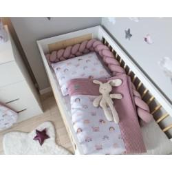 Baby Nellys 2-dílná sada do kočárku, kolébky, hnízdečka -Vafel, 3v1, bavlna, Duha
