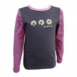 Dívčí tričko malinovo-hnědé - velikost 98, 110