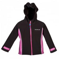 Softshellová bunda dívčí - černo/růžová - velikost 98, 110